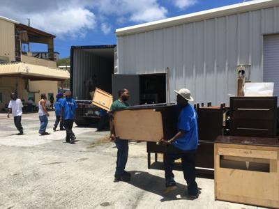 Employees With The Westin St John Resort And Villas V I Housing Authority Distributed An Estimated 1 Million Worth Of Furniture To Residents
