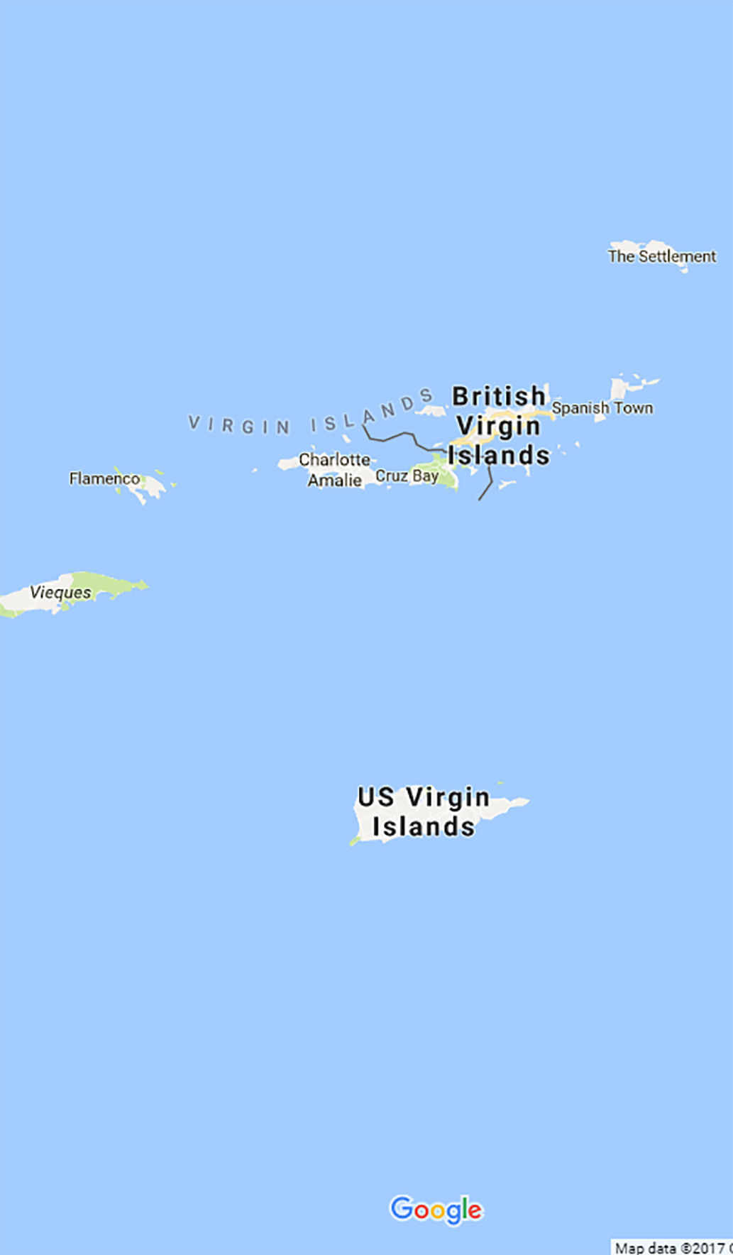 Why Couldnt Media And Google Maps Find Us After The Storm - Us virgin islands google maps