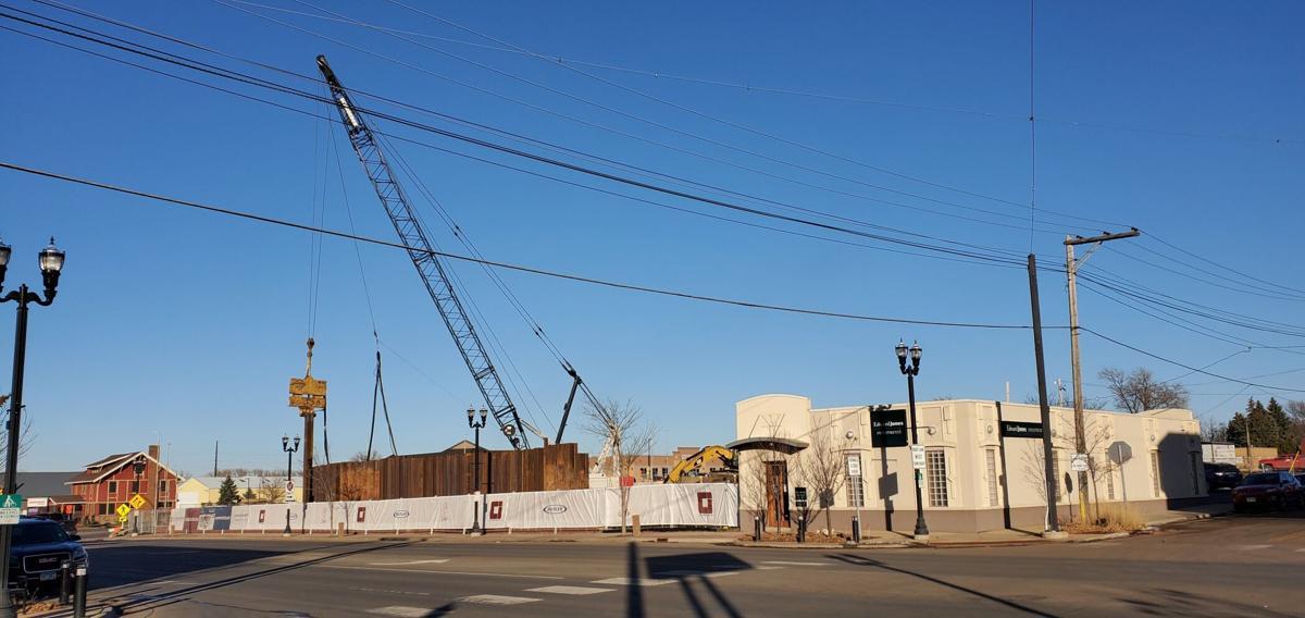 Crane over The Rune construction