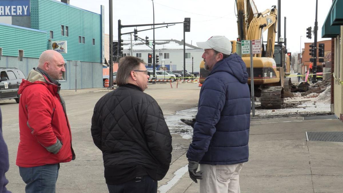 Andy talks with Fire Chief Jeff Karrow