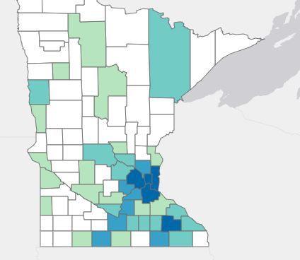 State Coronavirus Map on March 27th