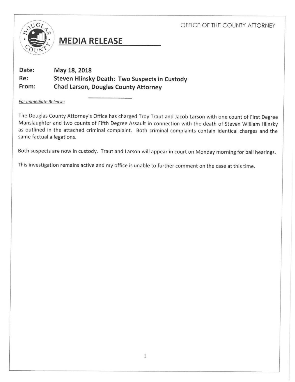 Criminal Complaints - Traut & Larson | Local News