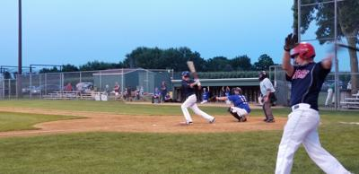 Randy Roers squares up a pitch in Union Hill