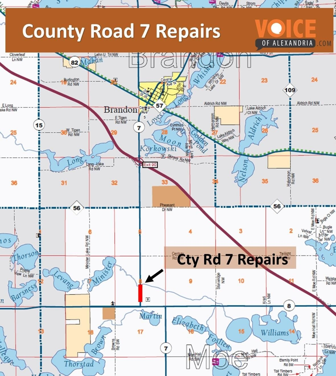 Road Repairs on Doug. Cty Rd 7