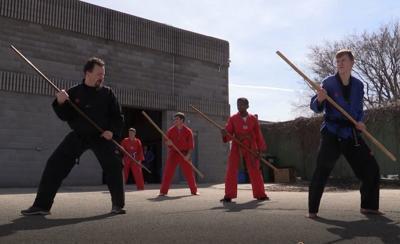 Master Josh teaches a martial arts class