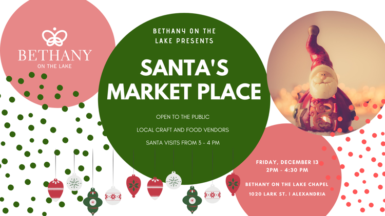 Santa's Market Place at Bethany on the  Lake