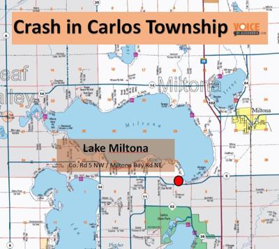 Crash in Carlos Township