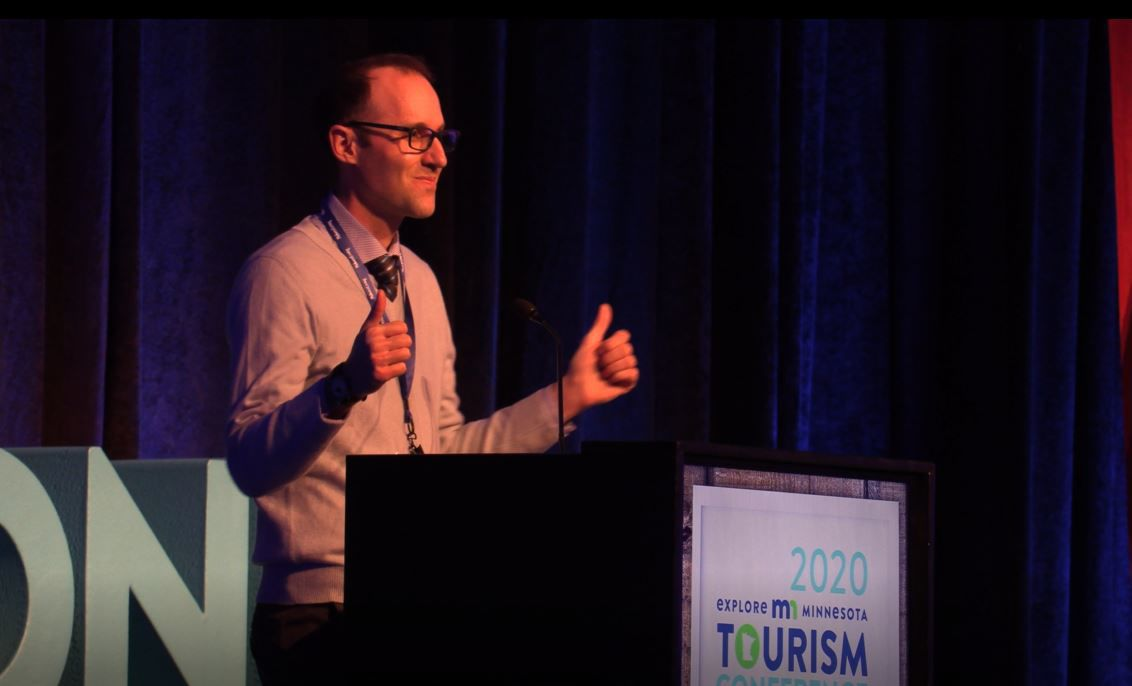 James Feist at Explore MN Tourism Conference