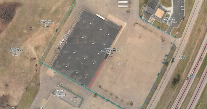 Overhead photo of old Kmart Building