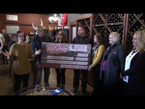 Stomp for Paws check presentation for 2018