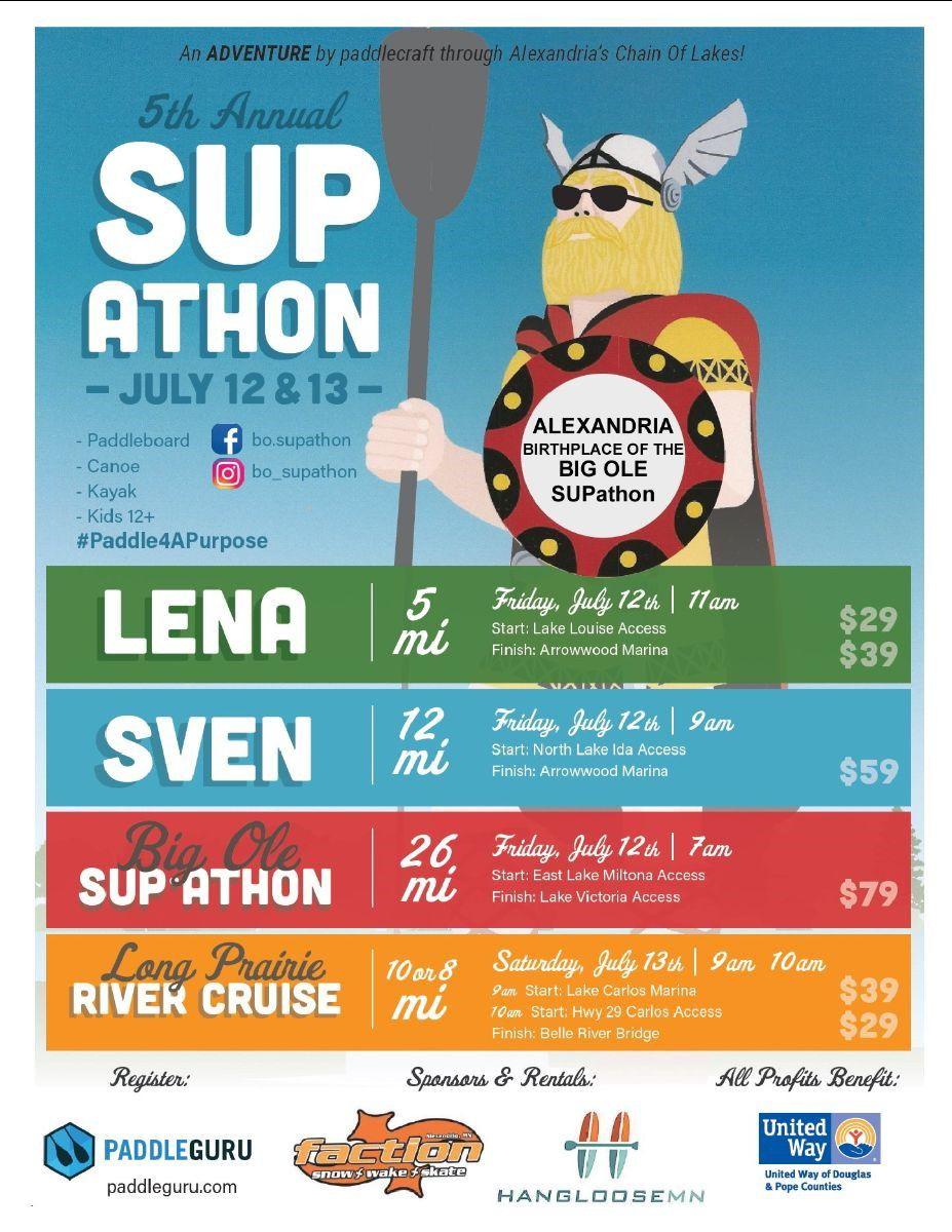 5th Annual Lakes Area SUP-athon