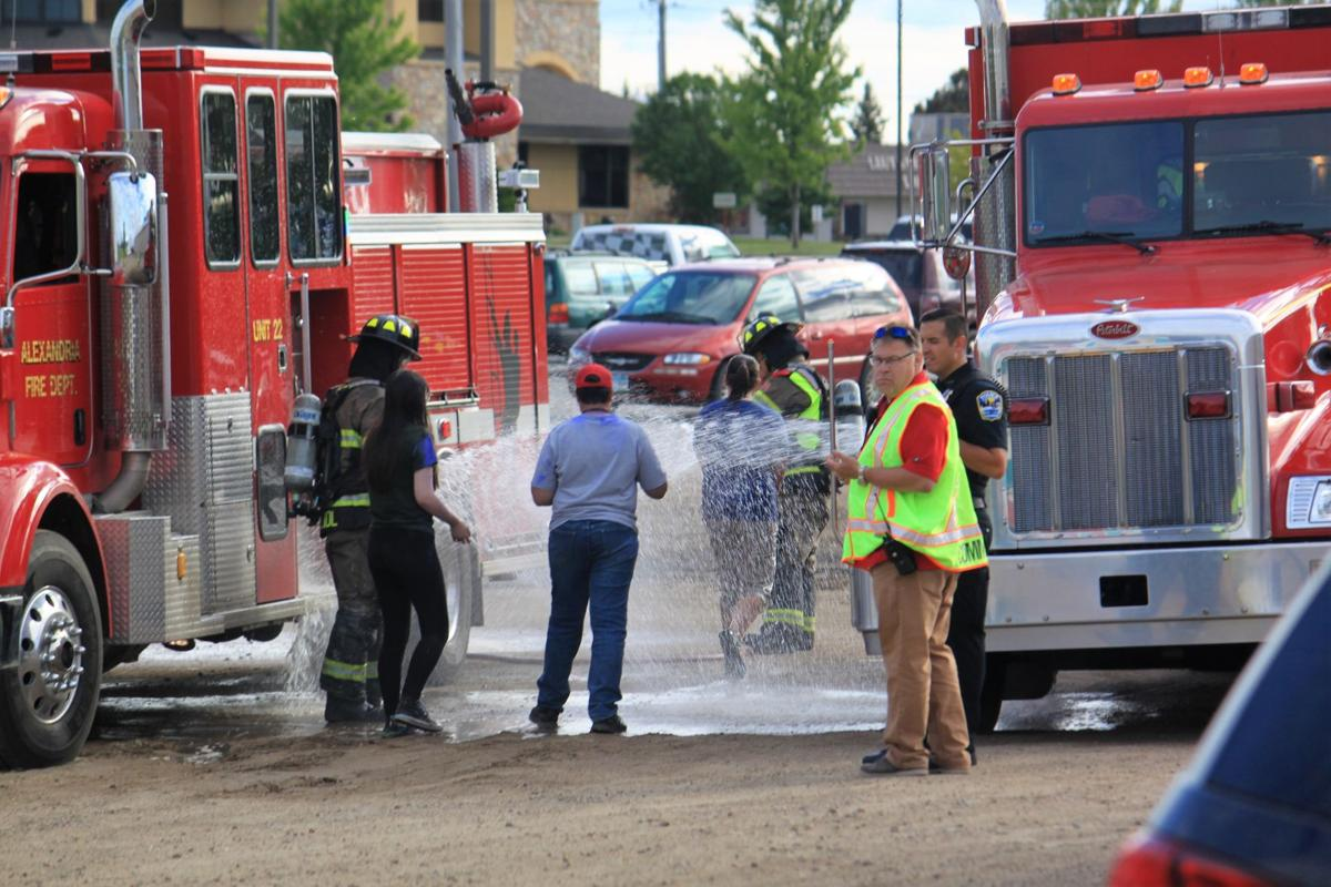 Mock chemical drill