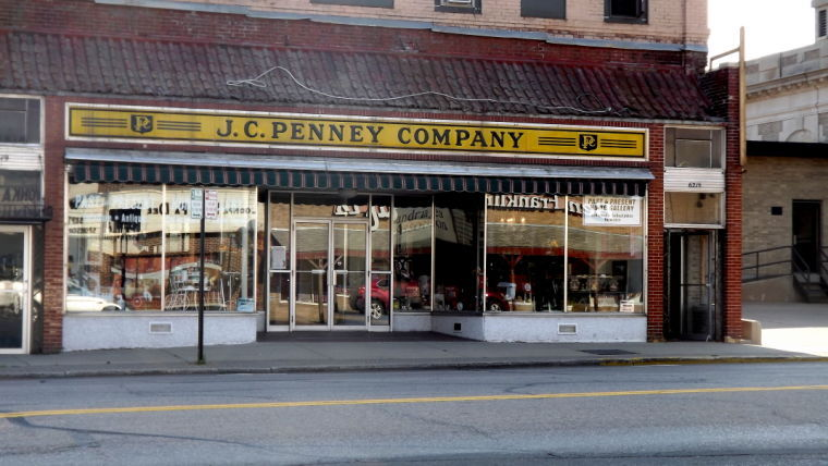 The JCPenney sign as it was found