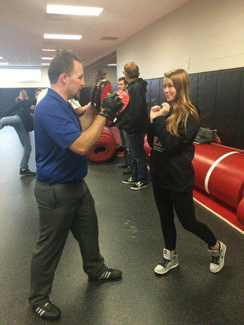 Waltzing teaches a self-defense course