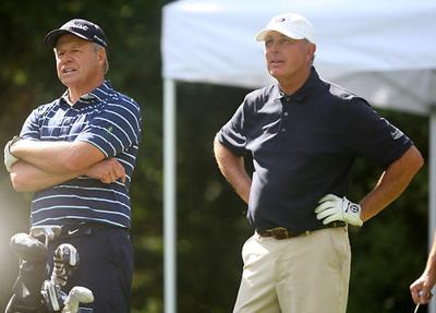Jerry Rose and Jim Lehman on the 10th tee