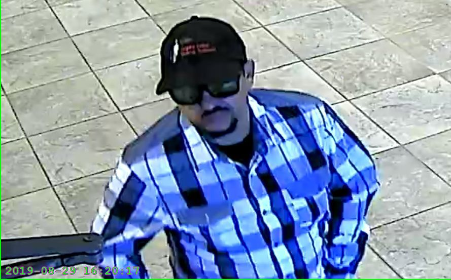 Suspect in robbery at Affinity Plus FCU on Thursday.