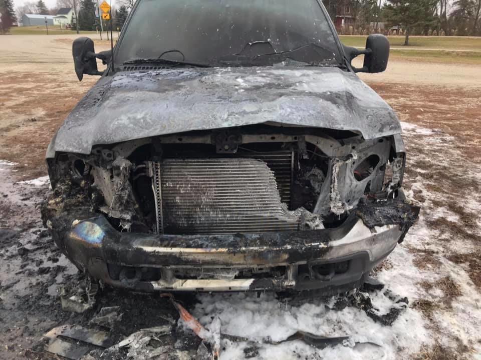 Truck Fire in Garfield
