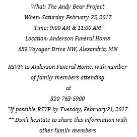 Andy Bear Project Comes To Alexandria Local News