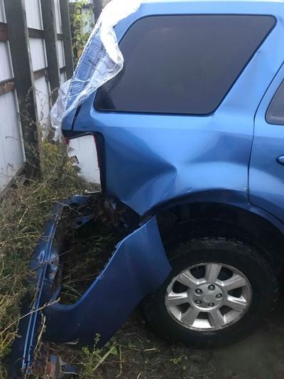 Mazda rear-ended in crash