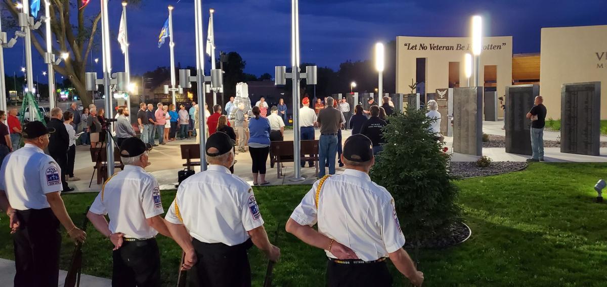 Color Guard at Veterans Memorial Park