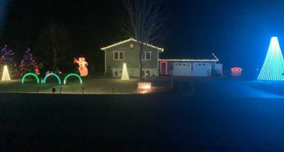 Christmas Lights light up Schneider Home
