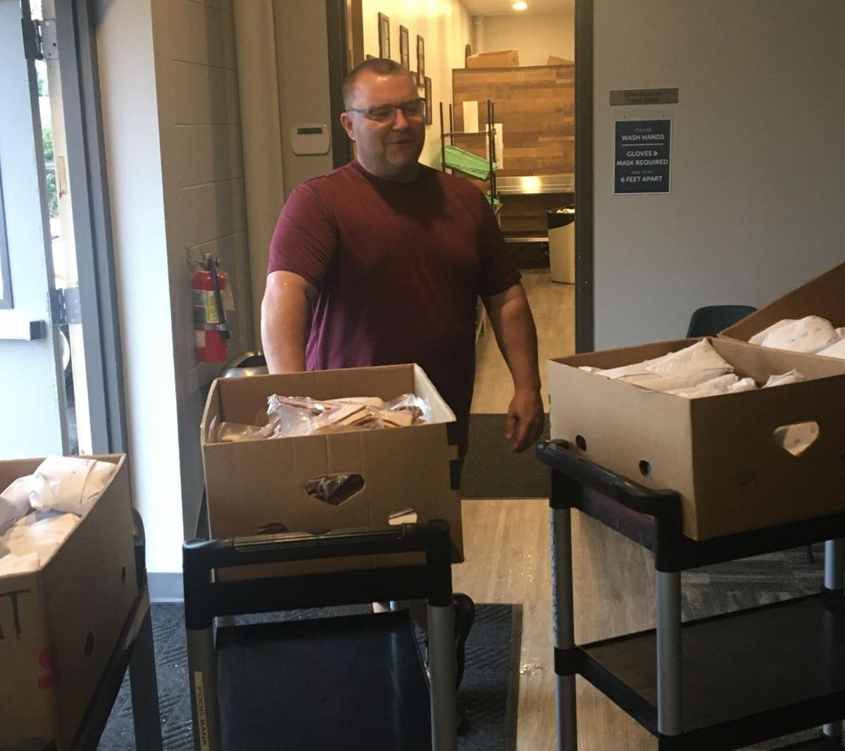 Frank delivering meat to South Fellowship