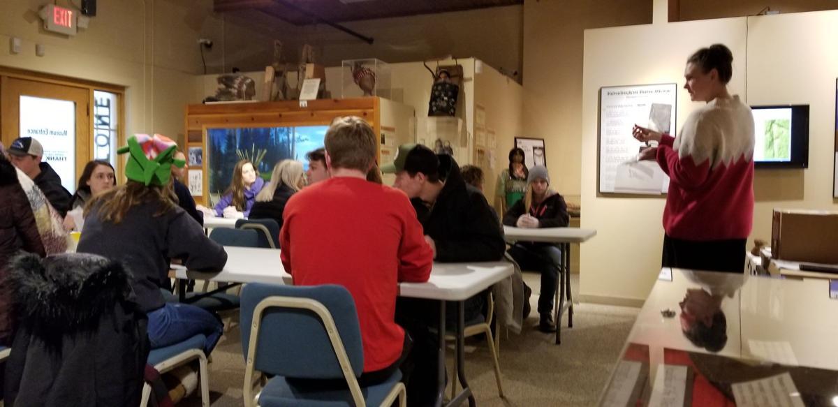 ATCC Biology class learns about bones at Runestone Museum