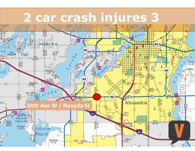 Crash injures three near Alexandria | Local News