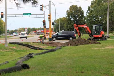 Work on Highway 29 Sidewalk Project
