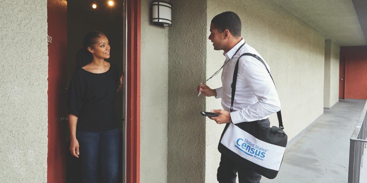Census Takers going door to door
