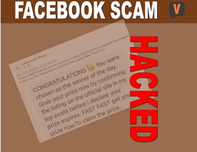 Facebook paged was hacked