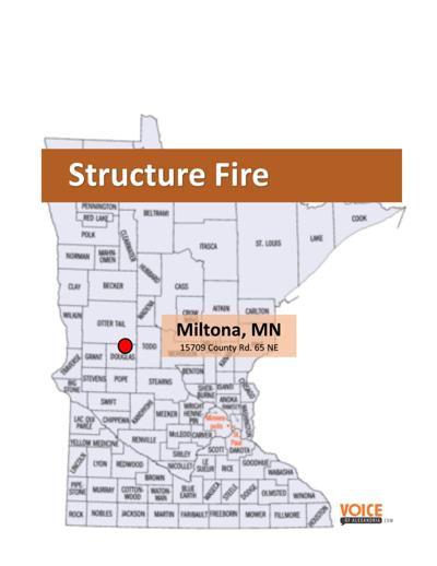 Structure Fire Near Miltona