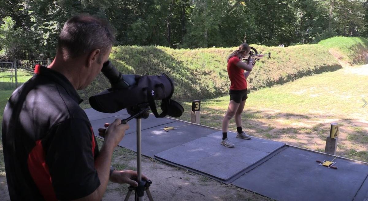 Kaisa practices on the range