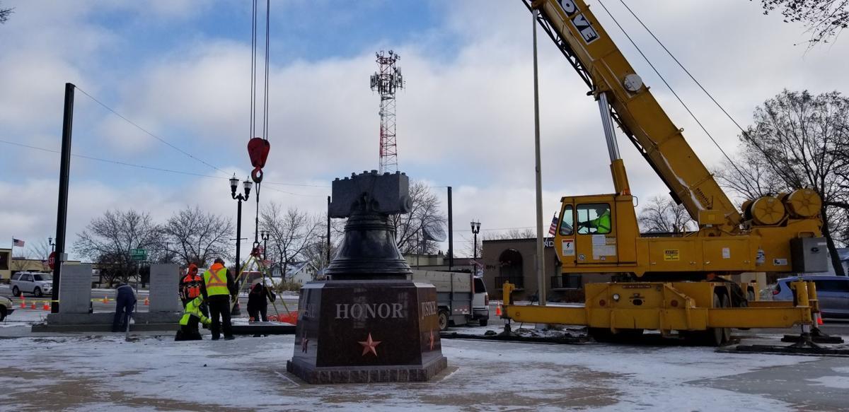 Granite replica of the Liberty Bell
