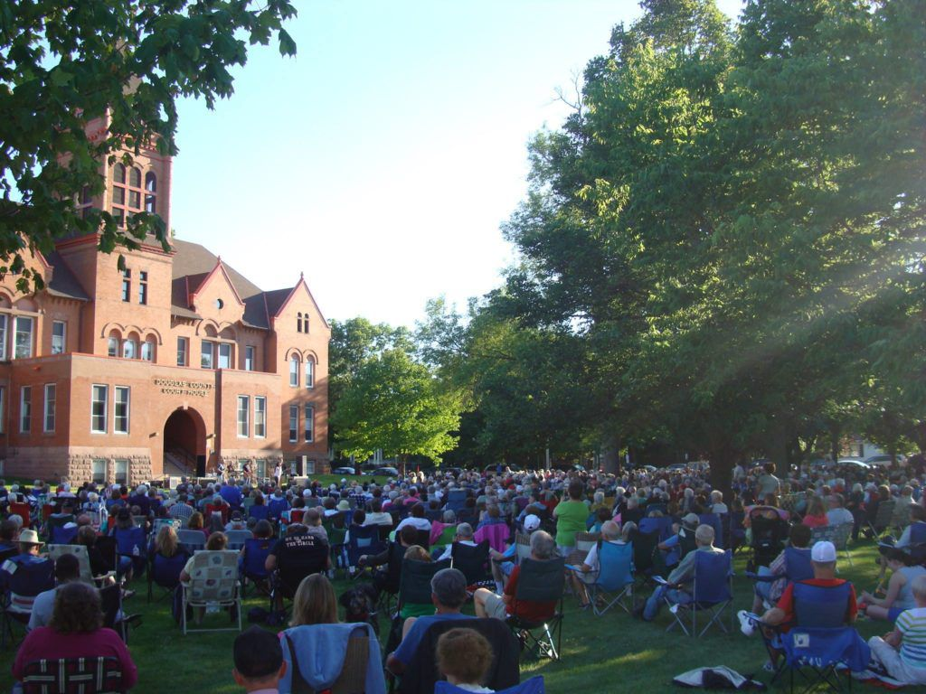 Courthouse Lawn is the Site for the Summer Concert Series Each Year