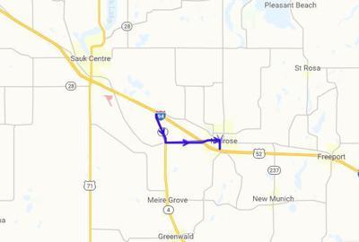 I-94 Detour near Melrose