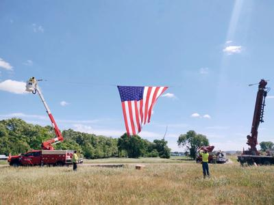 Large Flag to Fly at Veterans Park