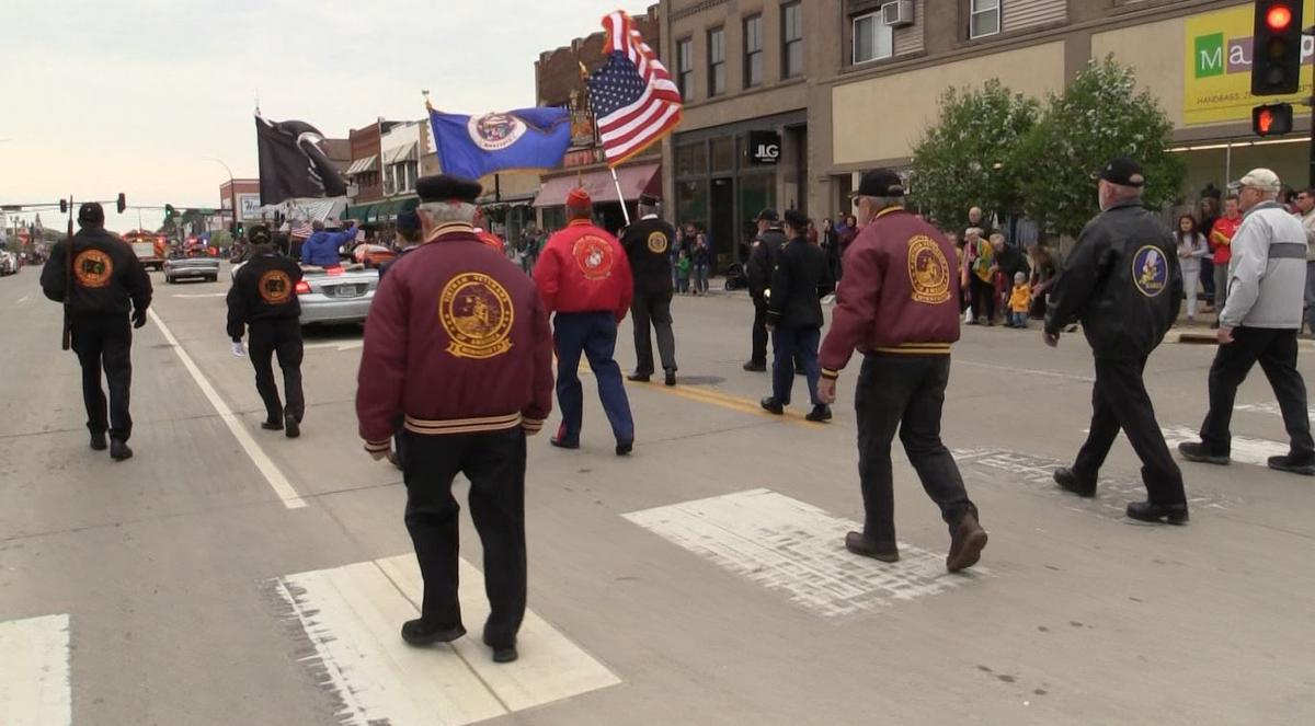 Veterans walk Broadway during Memorial Day Parade