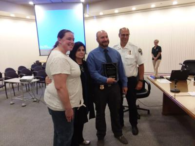 Officer Rosha honored at City Council Meeting