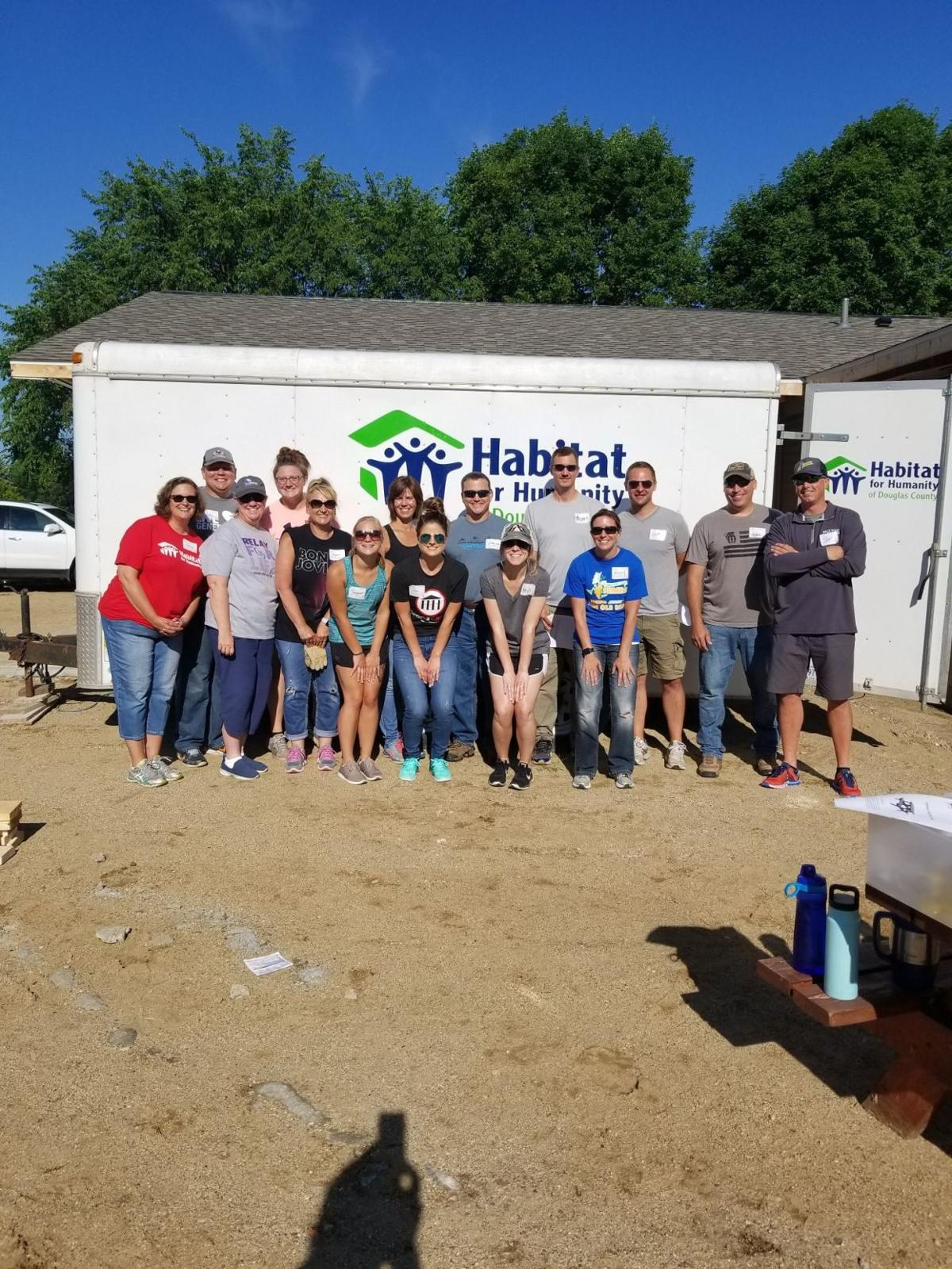 Leadership Alexandria Class of 2019 Volunteers with Habitat for Humanity of Douglas County