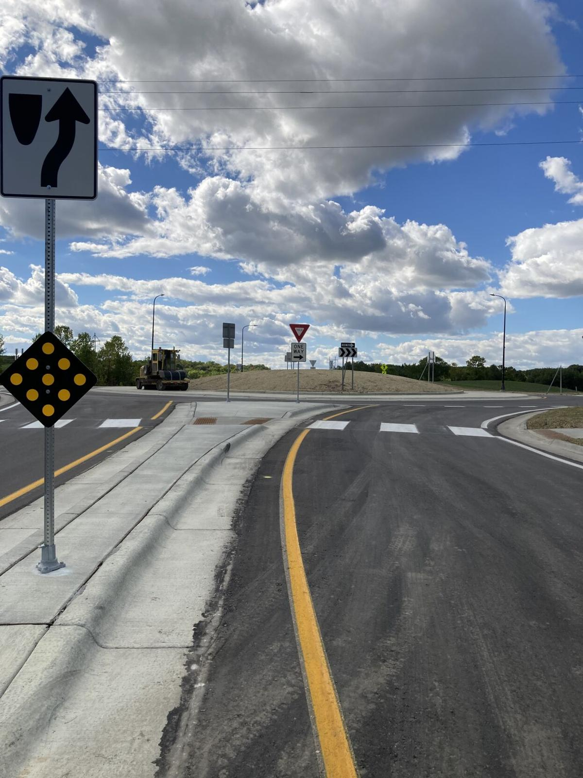 Roundabout complete at Douglas County road 40 and 8 intersection.