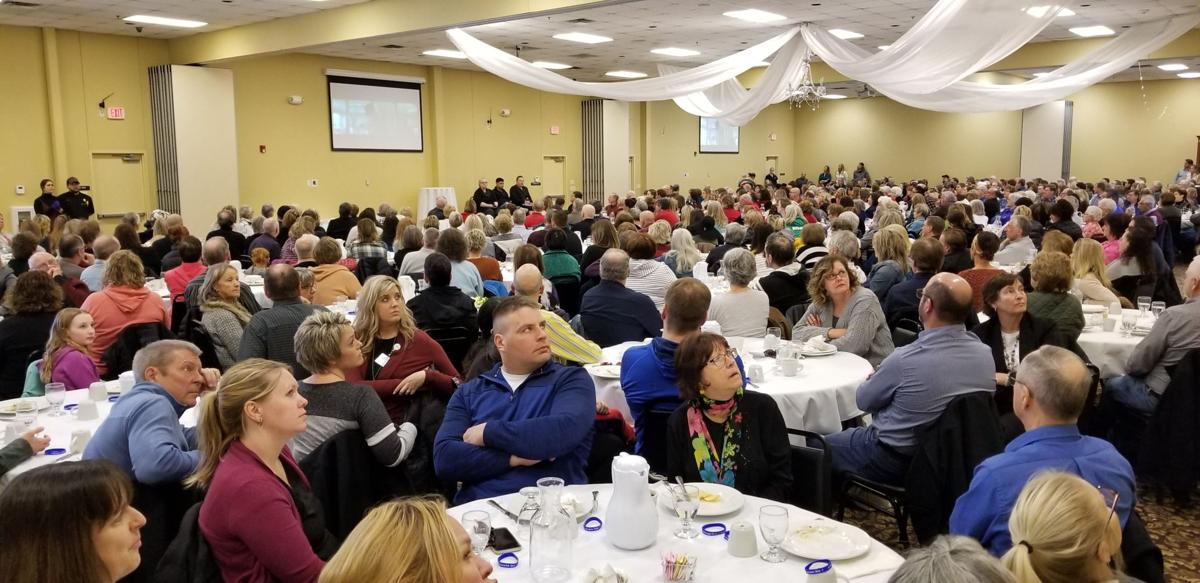 "Full crowd at ""Breakthrough"" Unity Foundation luncheon"