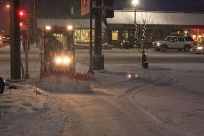 Snow Clean Up in downtown Alexandria