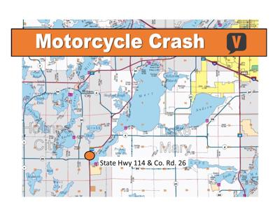 Motorcycle Crash in Holmes City Township
