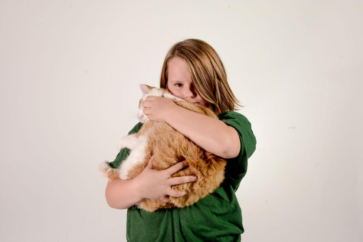 Emma Winter with her cat Truman