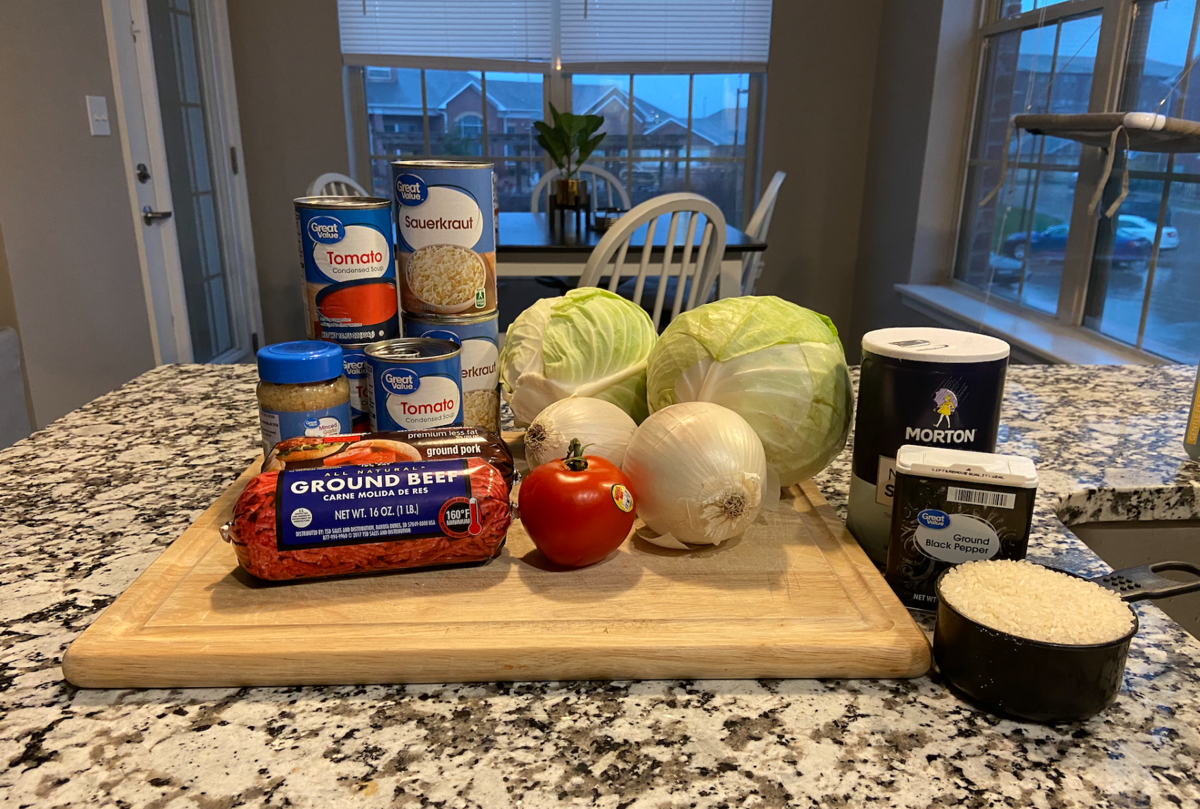 cabbage roll ingredients