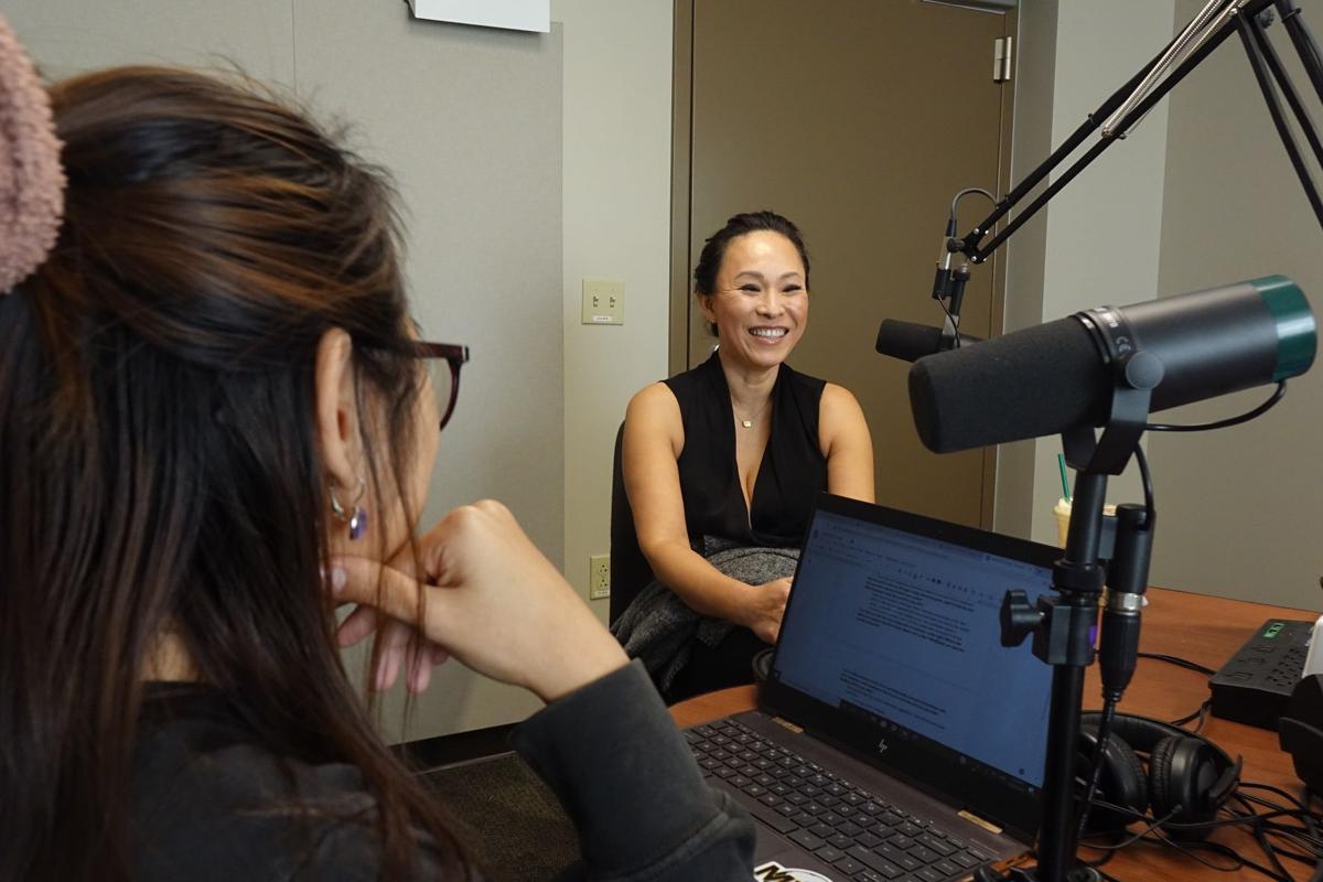 Jina Yoo in the studio