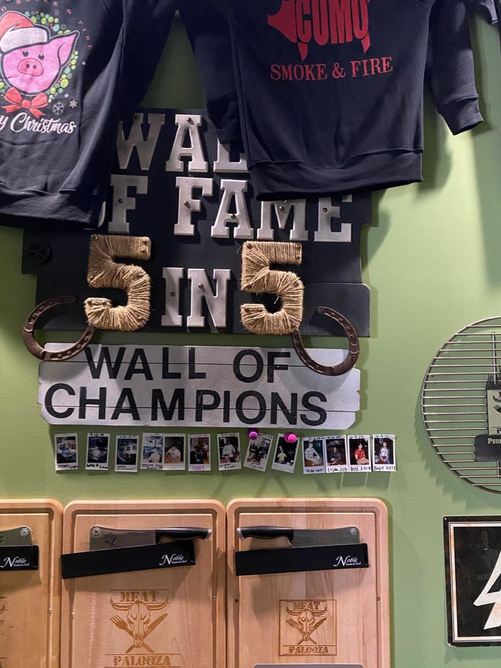 The Wall of Fame at CoMo Smoke and Fire