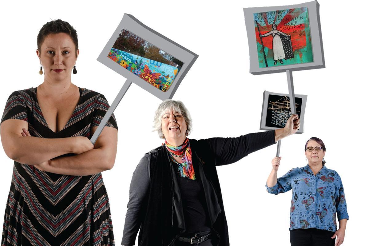 These local ladies unite their art and activism.