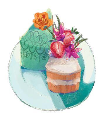 Wedding cakes- bohemian style